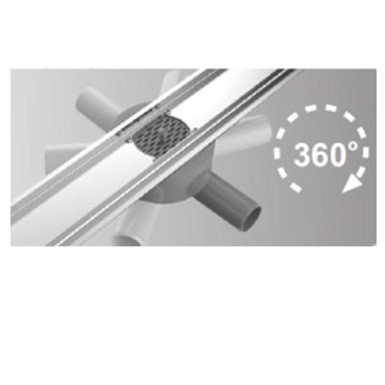 Душевой трап с сухим затвором, горизонтальный 360 Vieir-03