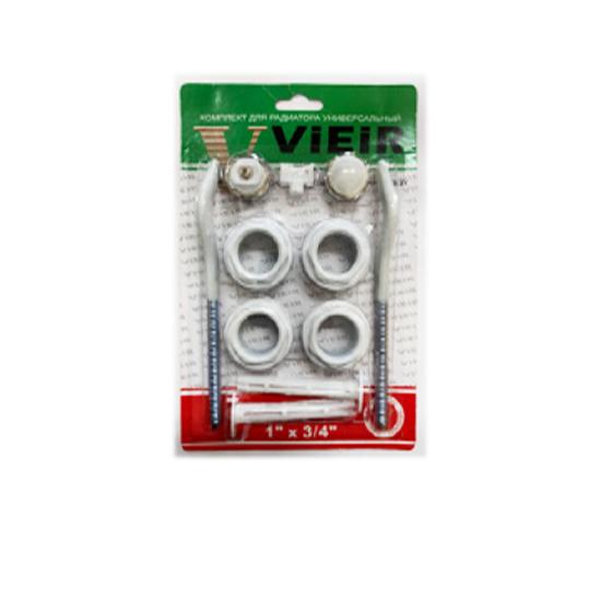 Набор для радиаторов c 2-мя прорезиненными кронштейнами Vieir