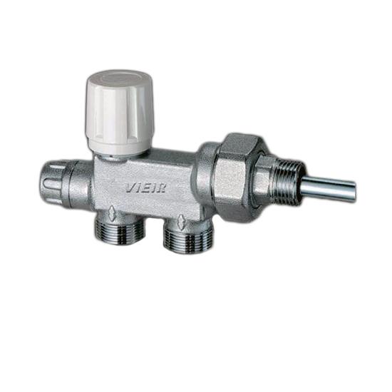 Термостатический узел регулировки для нижнего подключения радиатора, под термоголовку.