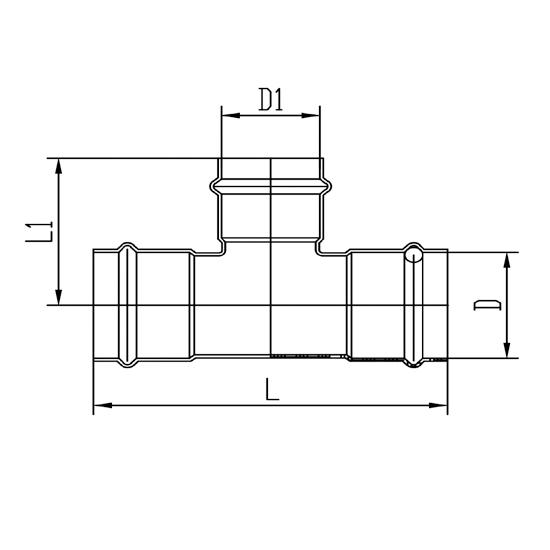 Тройник (раструб-раструб-раструб)-01, Ver-pro