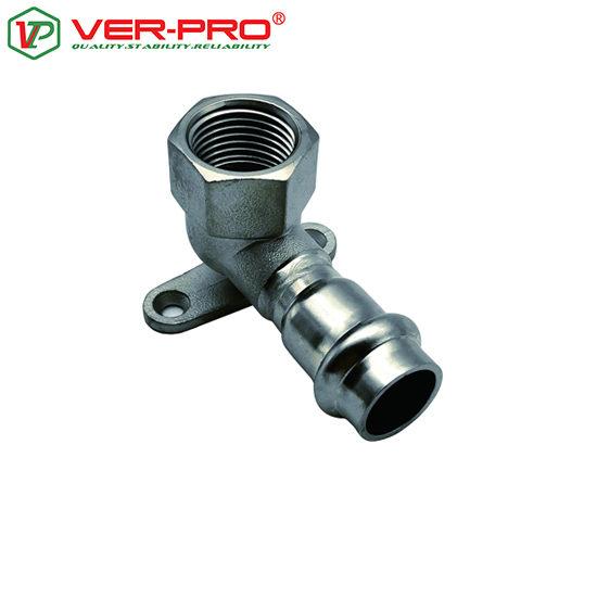 Уголок 90° с переходом на внутреннюю резьбу с креплением, Ver-pro