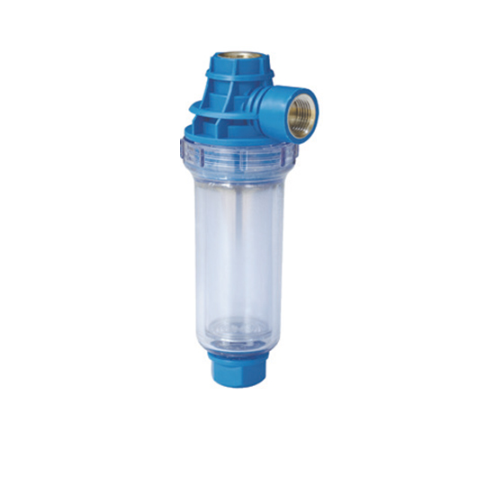 Фильтр колбовый для стиральной машины с полифосфатом угловой Аквастиль