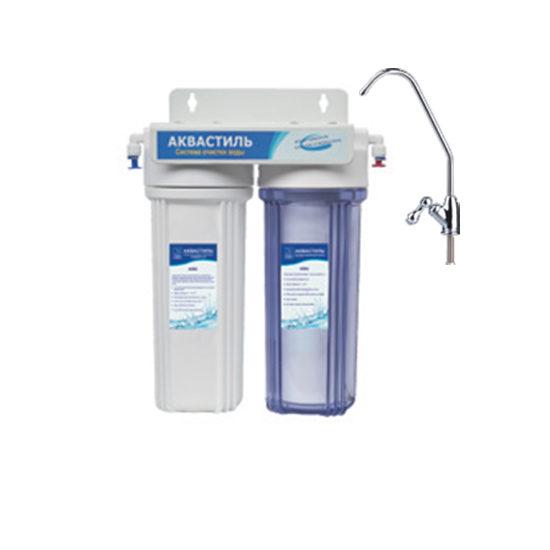 Фильтр «Classic» двухступенчатый со сменными картриджами, для питьевой воды Aквастиль