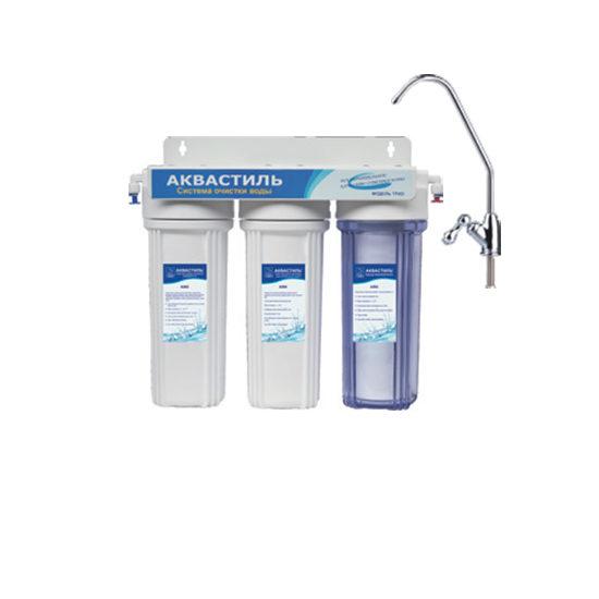 Фильтр «Classic» трехступенчатый со сменными картриджами, для жесткой воды Авкастиль