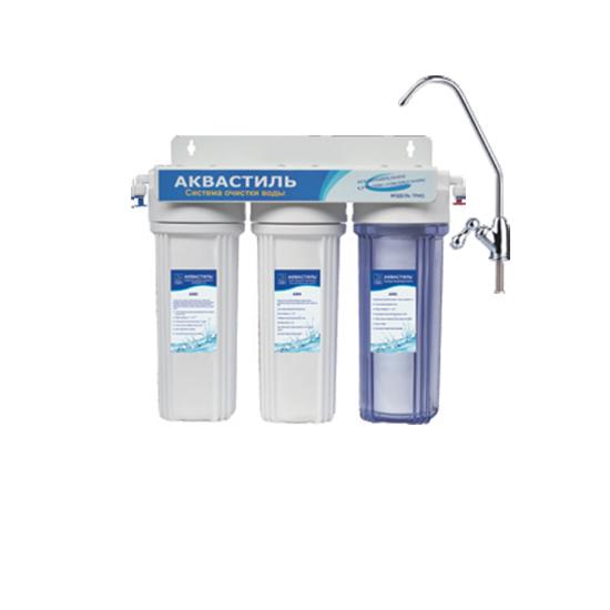 Фильтр «Classic» трехступенчатый со сменными картриджами, для питьевой воды Авкастиль