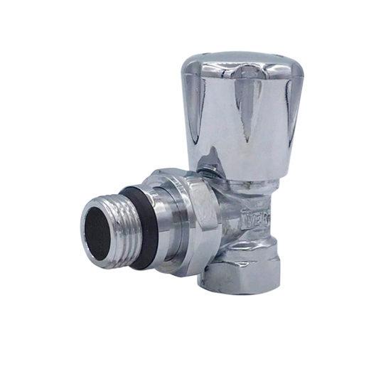 Вентиль регулировочный хромированный угловой верхний, VR30-Vieir