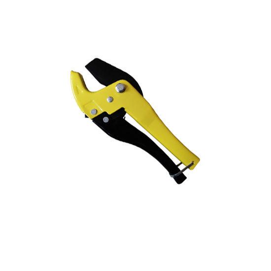 Ножницы желтые со съёмным лезвием для пластиковых труб, VER809 Vieir