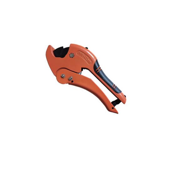 Ножницы оранжевые со съёмным лезвием для пластиковых труб, VER814 Vieir