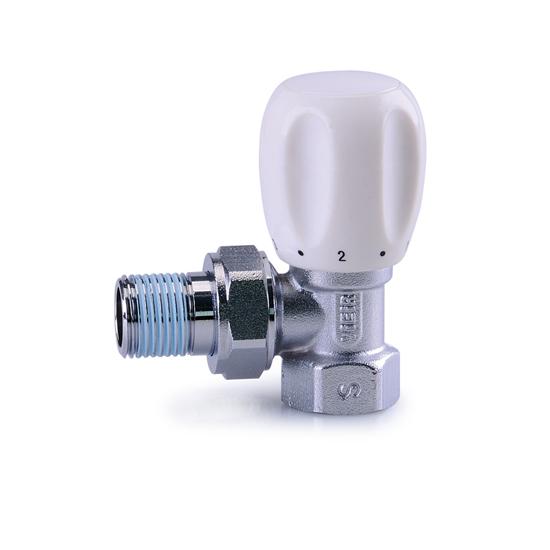 Регулировочный вентиль угловой верхний 1-2 LUX, Vieir