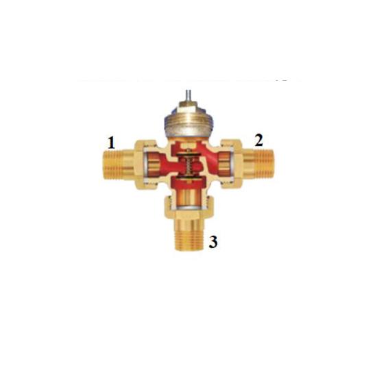 Термофстатический трёхходовой разделительный клапан, VR18-Vieir-01