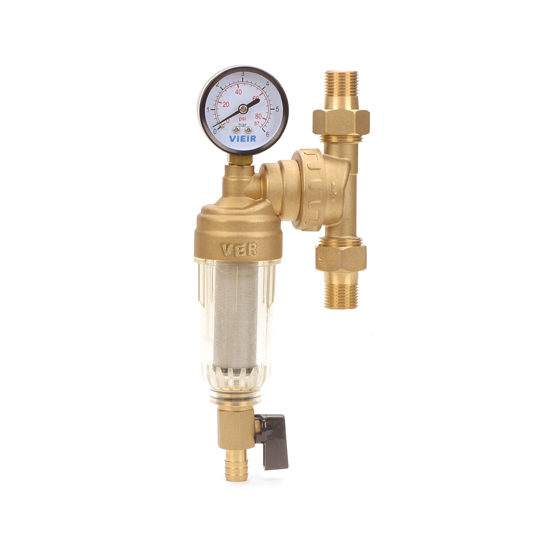 Фильтр свободного вращения с манометром для холодной воды, JH14-Vieir