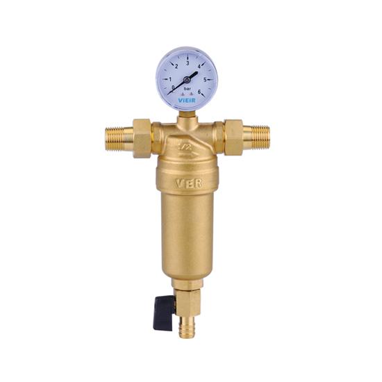 Фильтр с манометром для горячей воды