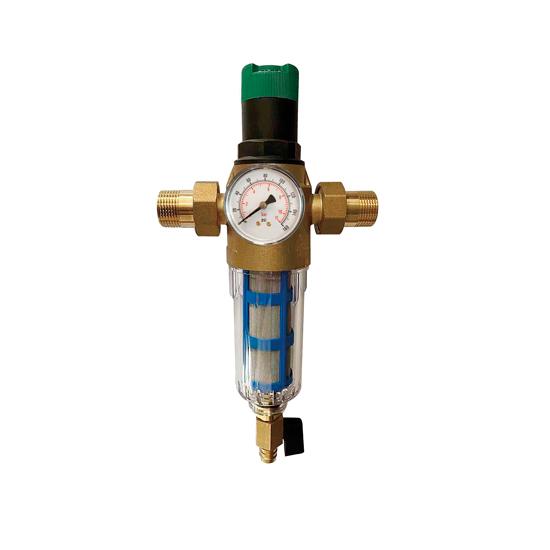 Фильтр с регулятором давления и манометром для холодной воды с функцией самоочистки, JH16-Vieir